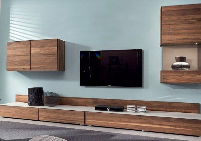 Thiết kế gỗ nội thất kệ tivi hiện đại cho nhà phố - 1