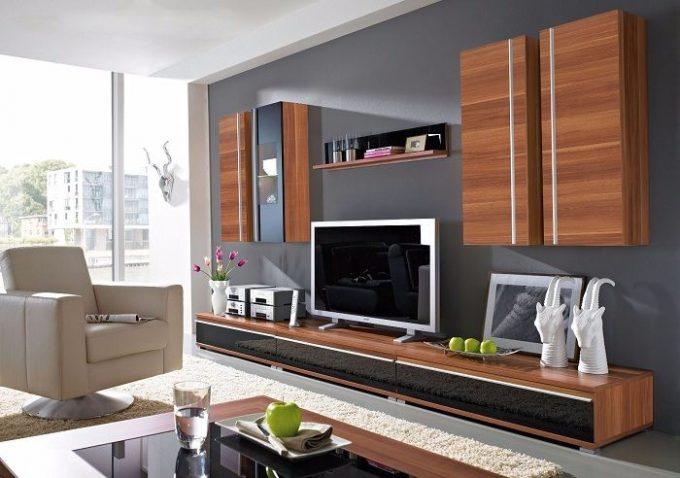 Thiết kế gỗ nội thất kệ tivi hiện đại cho nhà phố - 2