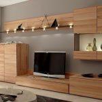 Thiết kế gỗ nội thất kệ tivi hiện đại cho nhà phố