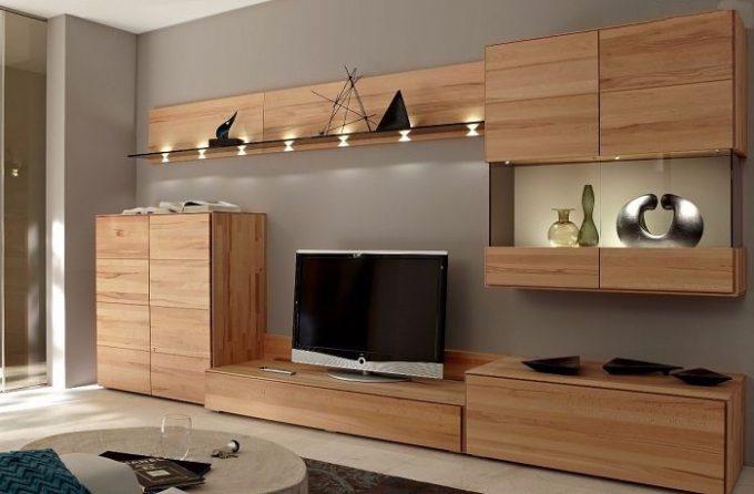 Thiết kế gỗ nội thất kệ tivi hiện đại cho nhà phố - 3
