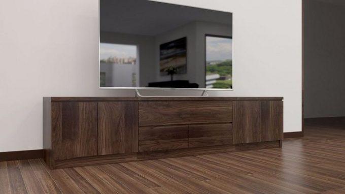 Thiết kế gỗ nội thất kệ tivi hiện đại cho nhà phố - 5