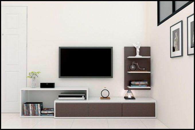 Thiết kế gỗ nội thất kệ tivi hiện đại cho nhà phố - 7