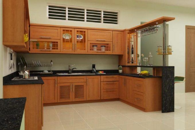 Thiết kế gỗ nội thất giá rẻ cho phòng bếp hợp phong thủy - 5