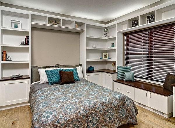Thiết kế gỗ nội thất cho phòng ngủ kết hợp phòng làm việc - 2