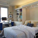 Thiết kế gỗ nội thất cho phòng ngủ kết hợp phòng làm việc