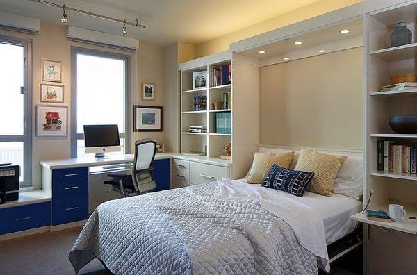 Thiết kế gỗ nội thất cho phòng ngủ kết hợp phòng làm việc - 3
