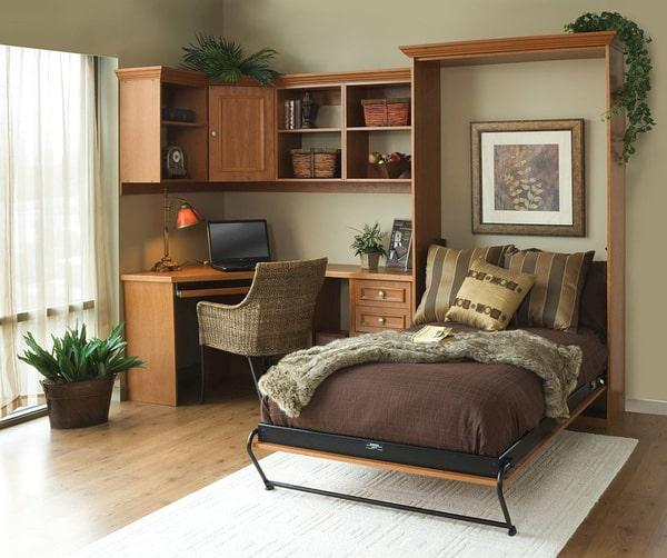 Thiết kế gỗ nội thất cho phòng ngủ kết hợp phòng làm việc - 4