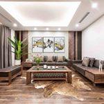 Top 10+ mẫu bàn ghế phòng khách gỗ óc chó đẹp năm 2021