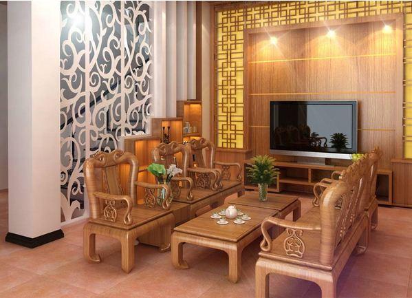 Thiết kế thi công gỗ nội thất phòng khách đẹp
