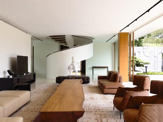 Thiết kế nội thất biệt thự - phối cảnh phòng khách