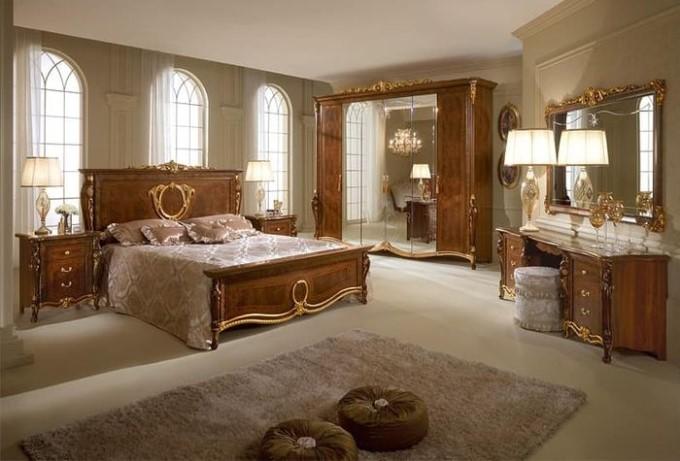 Giường ngủ thiết kế phong cách tân cổ điển